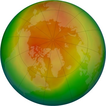 Arctic ozone map for 2009-03